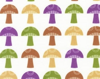 SALE - To Market To Market - Mushrooms by Print and Pattern for Robert Kaufman Fabrics- Novelty Food Fabric