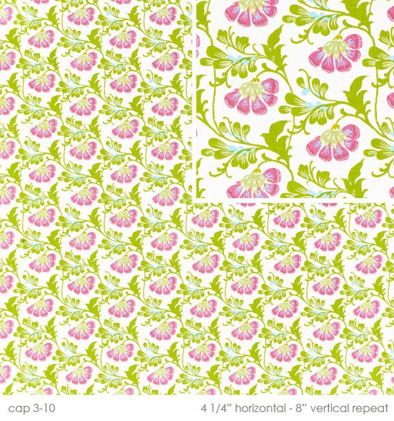 Amy Butler Fabric - Daisy Chain Collection - Sweet Jasmine - Natural
