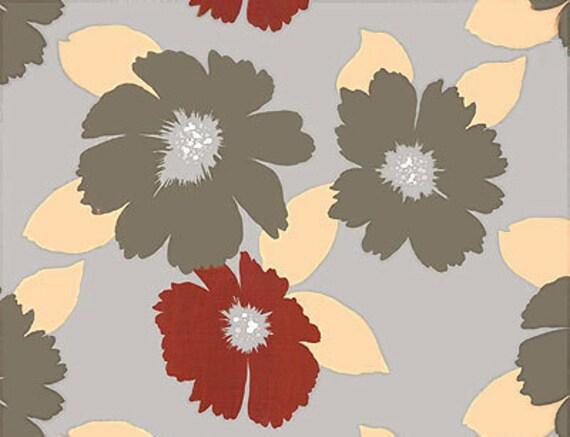 CLEARANCE - Alexander Henry Fabric - Jobim's Flowers - Dove Grey