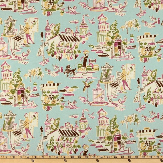 Waverly Home Decor Fabric Ooh La La Sugarplum French Theme
