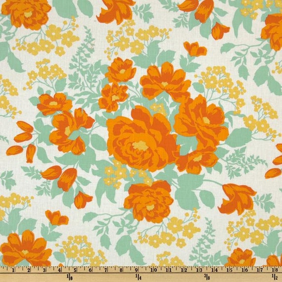 Joel Dewberry Fabric- Heirloom Collection - Rose Bouquet- Amber