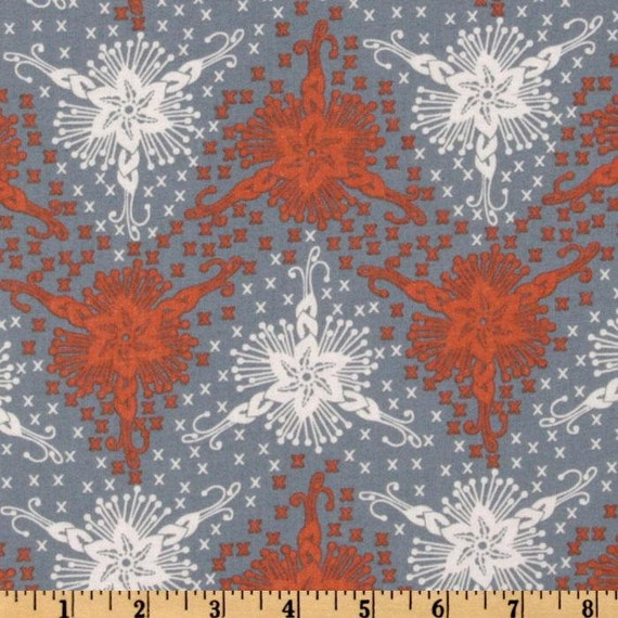 SALE- Anna Maria Horner Fabric- LouLouThi Collection - Triflora - Silver