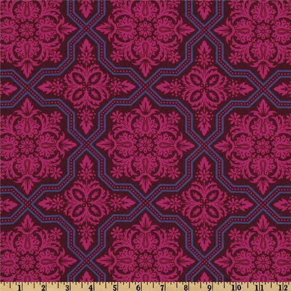 Joel Dewberry Fabric- Heirloom Collection - Tile Flourish - Garnet