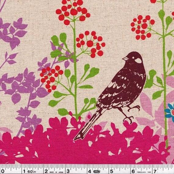 Echino Fall 2011 Fabric - Wish Border Print- Pink