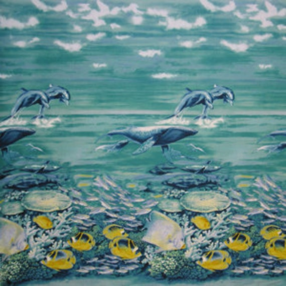 CLEARANCE - Michael Miller Fabric- Under the Sea- Sea Frolic- Novelty Fabric