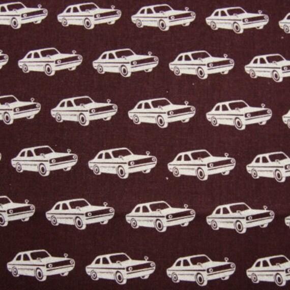 Echino Fabric- Echino Ni-Co Spring 2011- Retro Cars - Brown