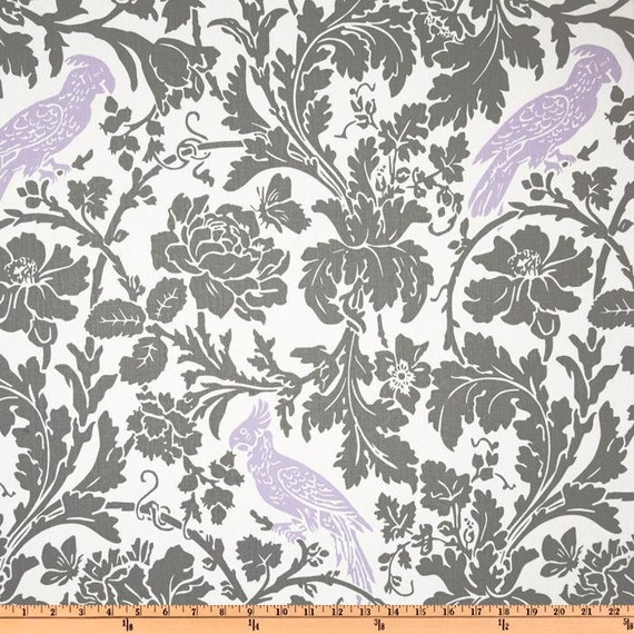 Premier Prints Fabric- Barber Collection - Barber in Storm/Wisteria - Home Decor Fabric