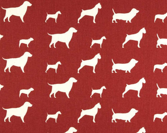 Premier Prints - Best Friends - Stucco Red and Natural -  Home Decor Fabric