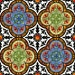 In The Beginning Fabrics- Avalon - Stained Glass Quatrefoil - by Jason Yenter