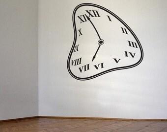 Warped  Clock Vinyl Wall Decal