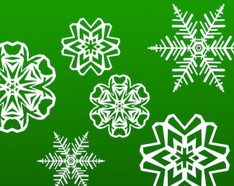 Snowflake Wall Decals - Removable Christmas Winter Snowflake decals