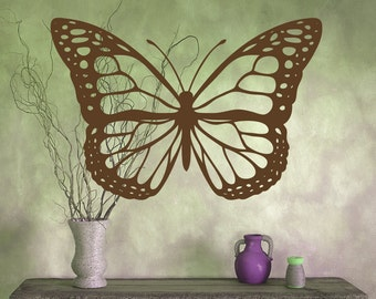 """Butterfly vinyl wall decal- one large butterlfy decal 21"""" by 31"""""""