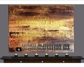 """Modern Abstract Canvas Painting """"Seize"""""""