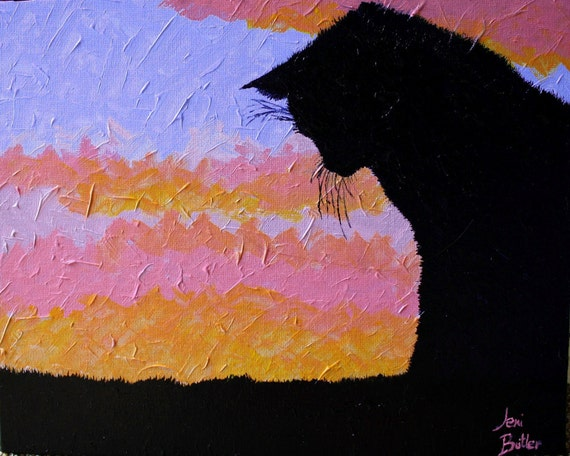 "ORIGINAL Artwork 10"" x 8"" Acrylics on Canvas Board Painting by ArtworkbyJeni ""Watching the Sunrise"""