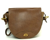 RESERVED- Vintage ETIENNE AIGNER Taupe Leather Cross body bag