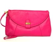 Vintage Bright Pink Leather Handbag