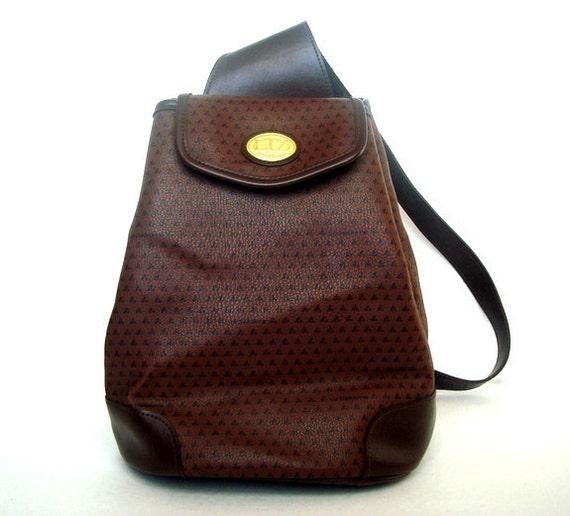 Vintage 80s LIZ CLAIBORNE Brown Shoulder Bag