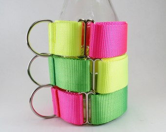 "More Mix and Match 1.5"" (38mm) Wide Martingale Dog Collars // Neon Dog Collar // Plain Nylon Dog Collar"