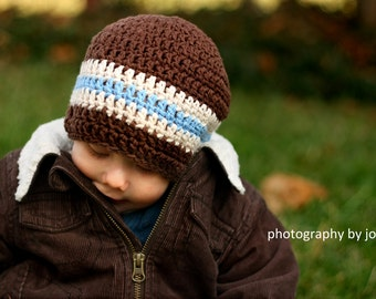 baby boy hat, baby hat, crochet baby hat, little boys hat