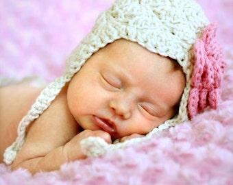 baby hat, Crochet baby hat, crochet baby girl hat,