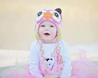 owl hat, crochet owl hat. baby hat, crochet kids hat, crochet baby hat, custom colors