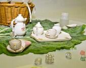 Mini Tea Party Picnic Basket