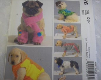 McCalls Pattern 5776 for Dog Coats, Scarf, Leg Warmers