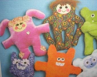 McCalls 5826  Wacky easy to sew creatures