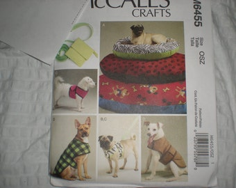 McCalls 6455 Little Dog Clothes and Accessories