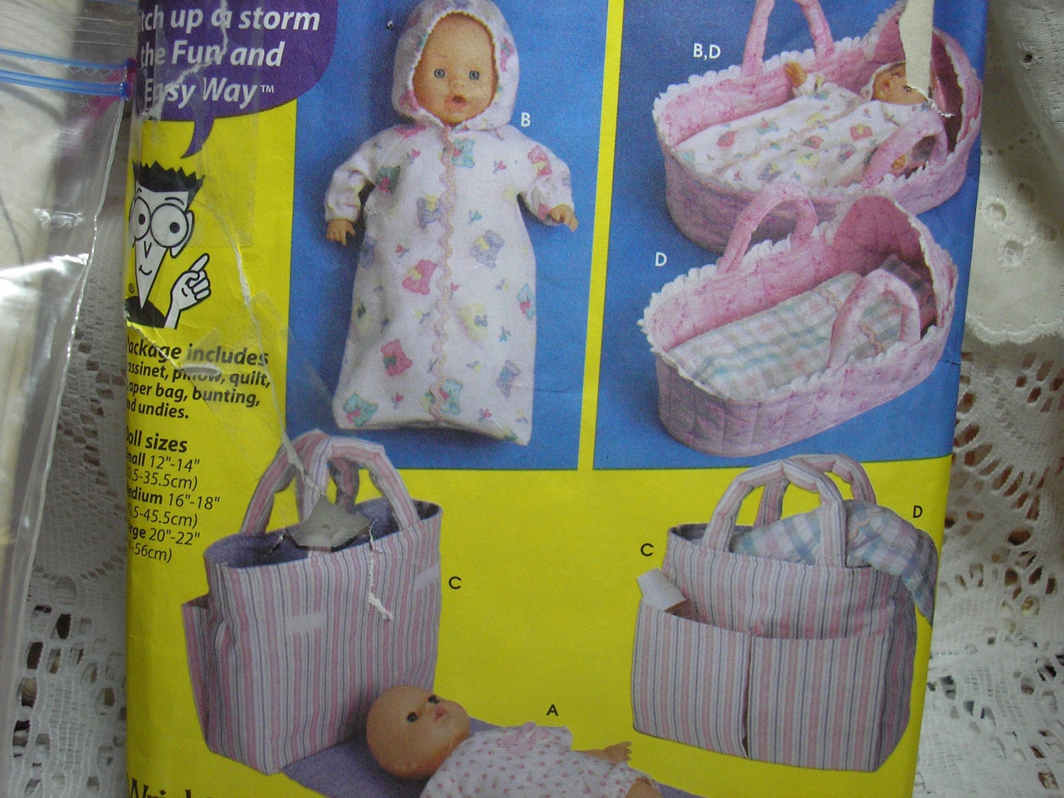 Simplicity 5554 Sewing Pattern Baby Doll Accessories