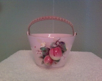 Lefton 1955 Porcelain pink basket