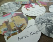 Fairy Tale Knight Die Cuts for Scrapbooking, Paper Crafts or Gifts / Set of 12