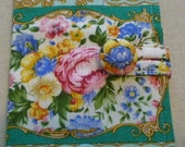 Tea bag wallet or CC Holder Royal Albert Lady Carlyle OOP