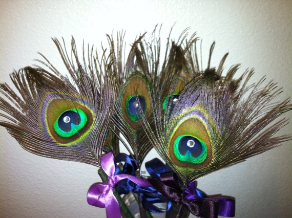Peacock Wedding Favor-Peacock Pen-Peacock Feathers