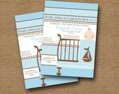 Baby Boy Shower Invitation DIY PRINTABLE Baby Crib Baby Bed Christian Scripture Bible Verse (Design 2 of 3)