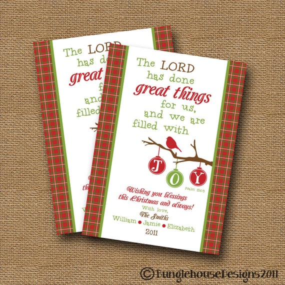 Printable Christmas Card DIY PRINTABLE Filled With