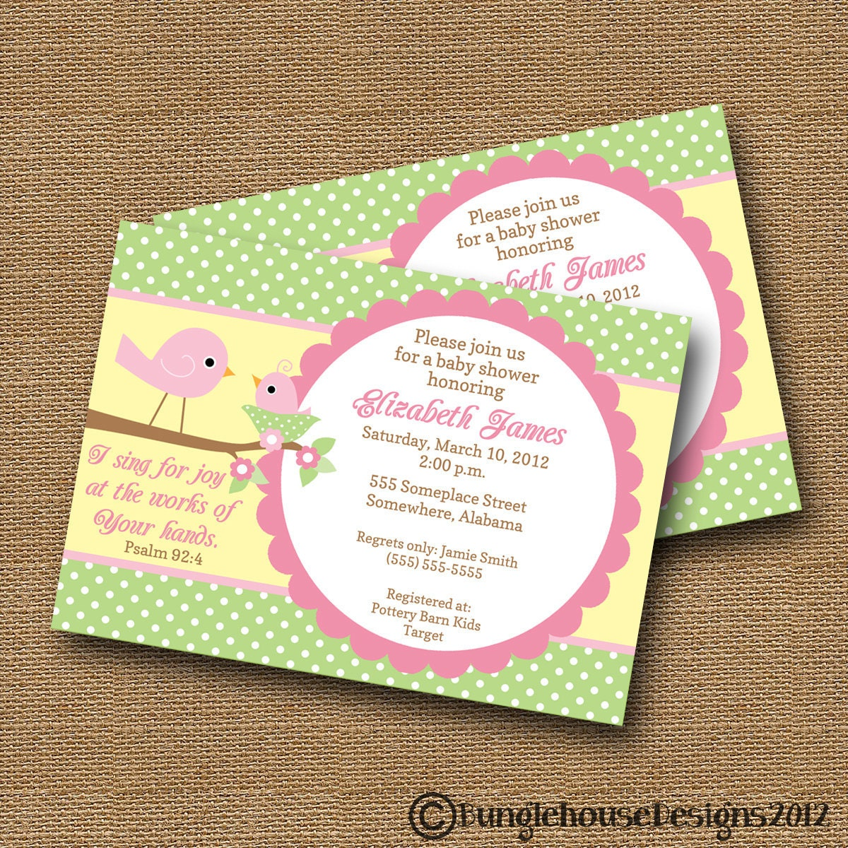 bird baby shower invitation diy printable baby girl christian