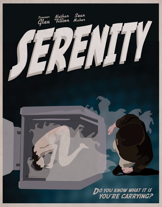 Serenity/Firefly Themed Illustrated Poster