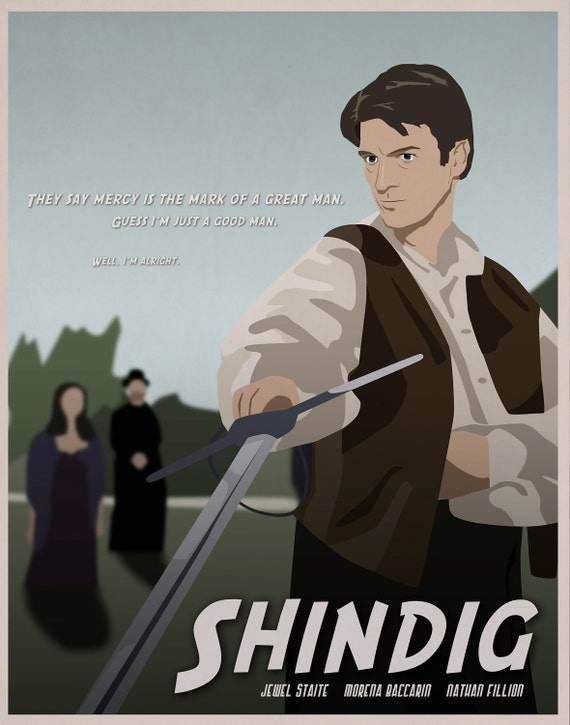 Shindig - Firefly Illustrated Poster