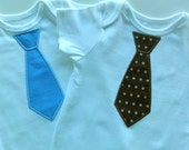 Onsie with Appliqued Tie - Embroidery, Baby Boy, Cotton, Bodysuit