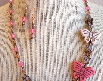 Necklace & Earrings Set - Flutter