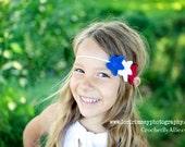 Patriotic Star Headband, 4th of July, Americana, USA, photo prop, Crochet by Allie