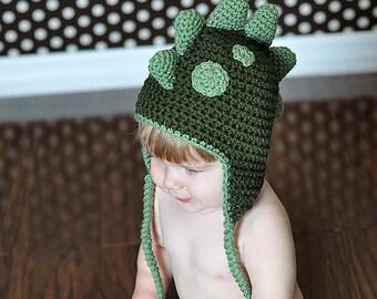 Rawrasaurus Dinosaur Hat, Crochet by Allie
