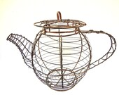Vintage Copper Wire Tea Pot