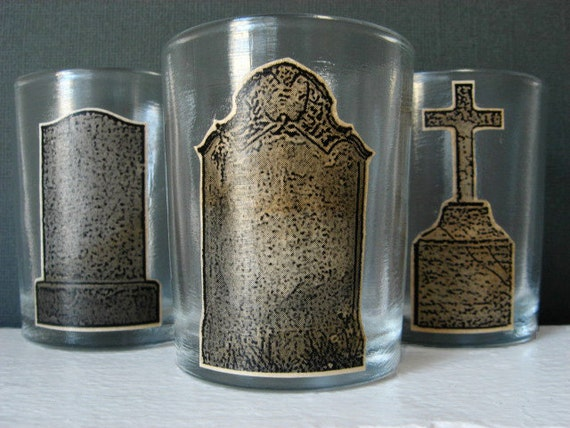Candle Votive Holder - Graves Aglow - Cemetery - Candle