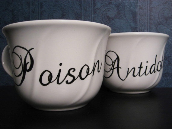 Coffee Mug - Coffee Cup - Poison & Antidote - Gift For Couples