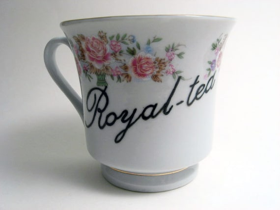 Teacup - Hand Painted Tea Cup - Royalty