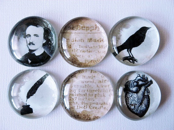 Edgar Allan Poe - Magnets - Home Decor