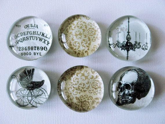 Skull - Ouija Board - Victorian Decor - Magnets