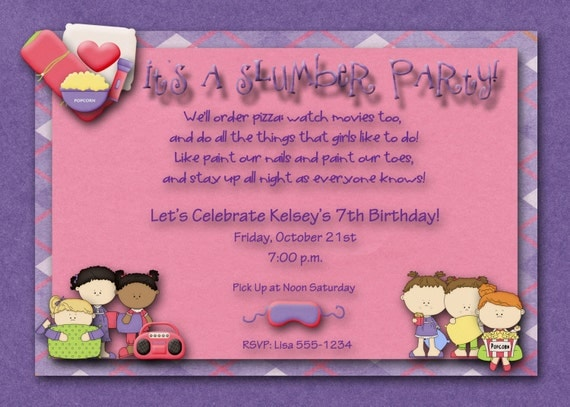Sleepover Birthday Party Invitations for amazing invitation ideas
